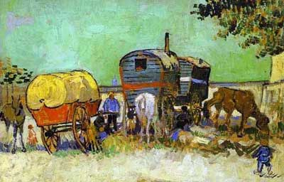 Vincent van Gogh - Gypsy Camp near Arles